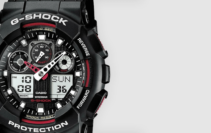 Casio G-Shock Standard Analog-Digital GA-100-1A4ER