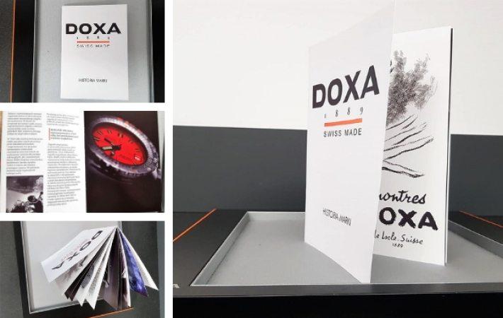 Książka o historii marki Doxa