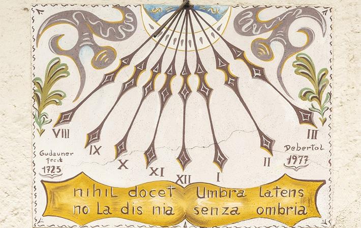 Włoski zegar słoneczny