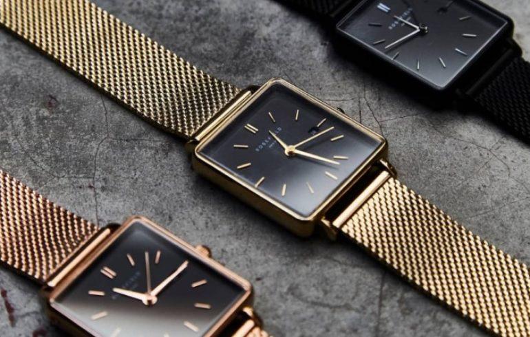 f5f26a3e8a69 Kwadratowe zegarki damskie