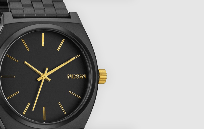 Matte Black Gold Nixon Time Teller A0452041