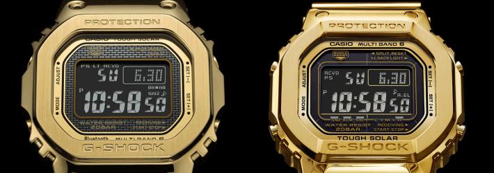 Z lewej GMW-B5000GD-9ER, z prawej złoty G-D5000-9JR