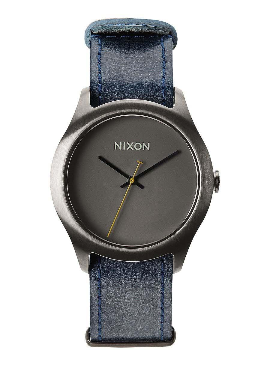 d7c37d0044721 Zegarek damski Gunmetal Navy Nixon Mod Leather A4281893 - cena - 359.00 zł